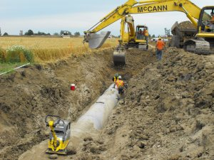Pipe excavation and install