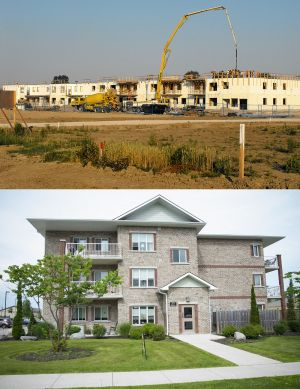 Appartments are built in Exeter (2007) and Grand Bend (2012).  Both are owned and operated by McCann Redi-Mix.